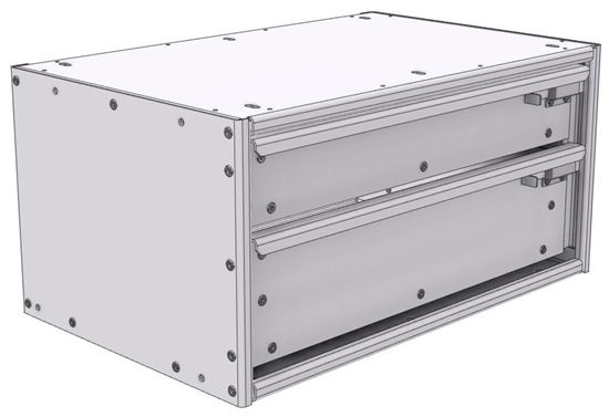 "16-2512-110 Tool drawer 24"" Wide X 15.5"" Deep X 11-11/16"" High with 2 drawers"