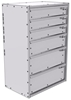 "16-2536-312 Tool drawer 24"" Wide X 15.5"" Deep X 35-11/16"" High with 6 drawers"