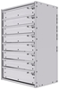 """16-2536-710 Tool drawer 24"""" Wide X 15.5"""" Deep X 35-11/16"""" High with 8 drawers"""