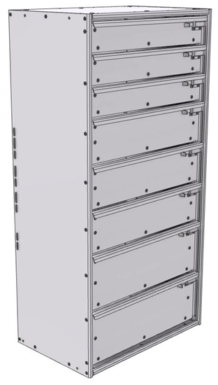 """16-2548-332 Tool drawer 24"""" Wide X 15.5"""" Deep X 47-11/16"""" High with 8 drawers"""
