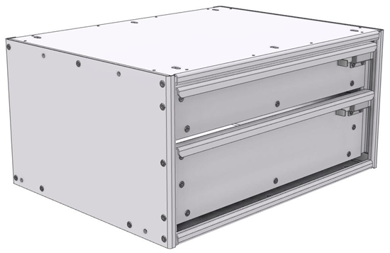 "16-2812-110 Tool drawer 24"" Wide X 18.5"" Deep X 11-11/16"" High with 2 drawers"