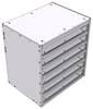 """16-2826-600 Tool drawer 24"""" Wide X 18.5"""" Deep X 25-11/16"""" High with 6 drawers"""