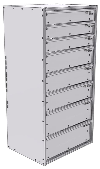 """16-2848-332 Tool drawer 24"""" Wide X 18.5"""" Deep X 47-11/16"""" High with 8 drawers"""