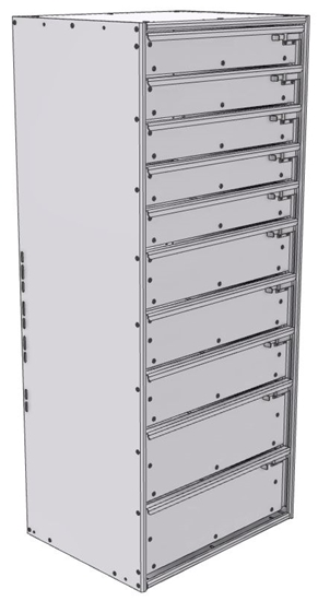 "16-2856-532 Tool drawer 24"" Wide X 15.5"" Deep X 55-11/16"" High with 10 drawers"