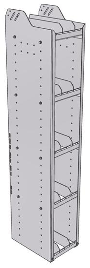 "28-1563-5 Square Back Bookshelf, 11""Wide x 15.5""Deep x 63""High with 5 shelves"
