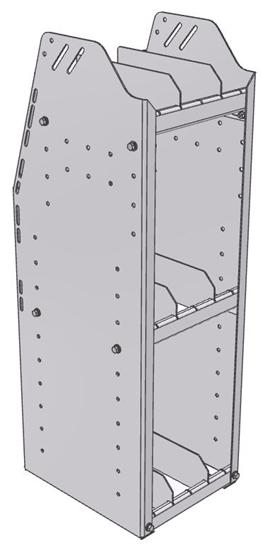 "29-1336-3 Profiled Back Bookshelf, 11""Wide x 13.5""Deep x 36""High with 3 shelves"