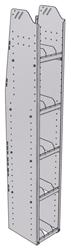"29-1372-5 Profiled Back Bookshelf, 11""Wide x 13.5""Deep x 72""High with 5 shelves"