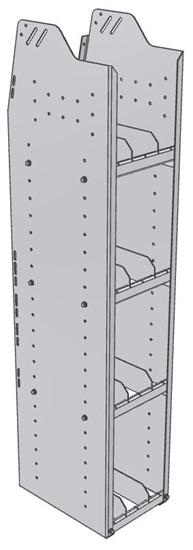 "29-1558-4 Profiled Back Bookshelf, 11""Wide x 15.5""Deep x 58""High with 4 shelves"