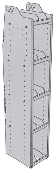 "29-1563-5 Profiled Back Bookshelf, 11""Wide x 15.5""Deep x 63""High with 5 shelves"