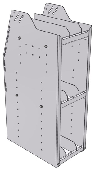 "29-1836-3 Profiled Back Bookshelf, 11""Wide x 18.5""Deep x 36""High with 3 shelves"