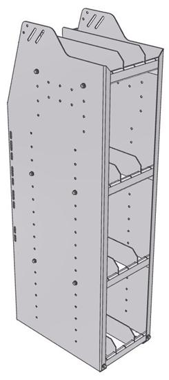 "29-1848-4 Profiled Back Bookshelf, 11""Wide x 18.5""Deep x 48""High with 4 shelves"