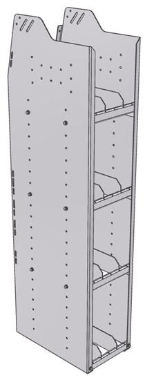 "29-1858-4 Profiled Back Bookshelf, 11""Wide x 18.5""Deep x 58""High with 4 shelves"