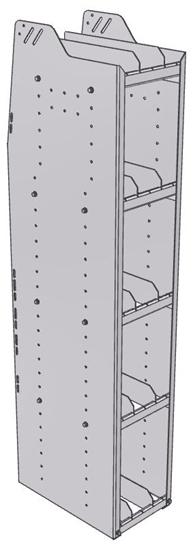 "29-1863-5 Profiled Back Bookshelf, 11""Wide x 18.5""Deep x 63""High with 5 shelves"