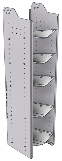 """32-C563-5 Square Back Refrigerant Combo Shelf Unit 15.45""""Wide x 15.5""""Deep x 63""""High for 2 large and 3 small bottles"""