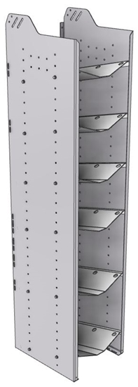 """32-C872-6 Square Back Refrigerant Combo Shelf Unit 15.45""""Wide x 18.5""""Deep x 72""""High for 2 large and 4 small bottles"""