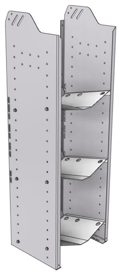 """32-L348-3 Square Back Refrigerant Shelf Unit 15.45""""Wide x 13.5""""Deep x 48""""High for 3 large bottles"""