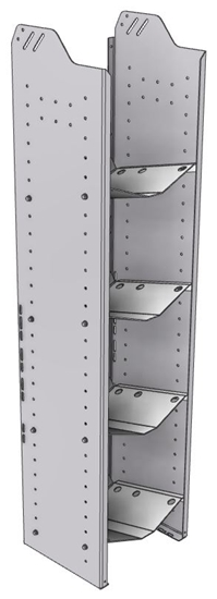 """32-L363-4 Square Back Refrigerant Shelf Unit 15.45""""Wide x 13.5""""Deep x 63""""High for 4 large bottles"""