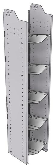 """32-L372-5 Square Back Refrigerant Shelf Unit 15.45""""Wide x 13.5""""Deep x 72""""High for 5 large bottles"""