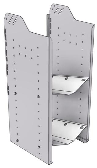 """32-L536-2 Square Back Refrigerant Shelf Unit 15.45""""Wide x 15.5""""Deep x 36""""High for 2 large bottles"""