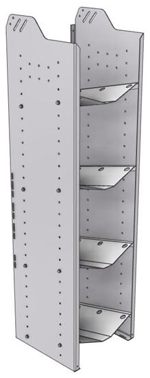 """32-L558-4 Square Back Refrigerant Shelf Unit 15.45""""Wide x 15.5""""Deep x 58""""High for 4 large bottles"""