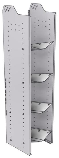 """32-L563-4 Square Back Refrigerant Shelf Unit 15.45""""Wide x 15.5""""Deep x 63""""High for 4 large bottles"""