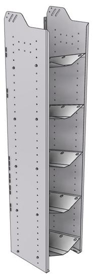 """32-L572-5 Square Back Refrigerant Shelf Unit 15.45""""Wide x 15.5""""Deep x 72""""High for 5 large bottles"""