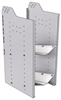 """32-L836-2 Square Back Refrigerant Shelf Unit 15.45""""Wide x 18.5""""Deep x 36""""High for 2 large bottles"""
