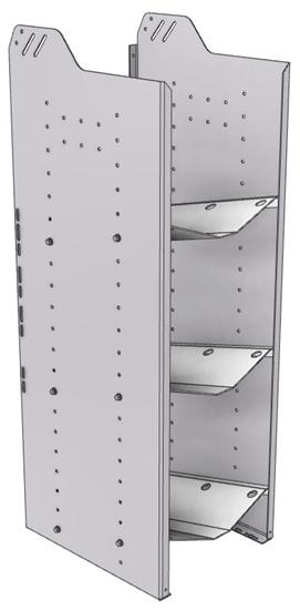 """32-L848-3 Square Back Refrigerant Shelf Unit 15.45""""Wide x 18.5""""Deep x 48""""High for 3 large bottles"""