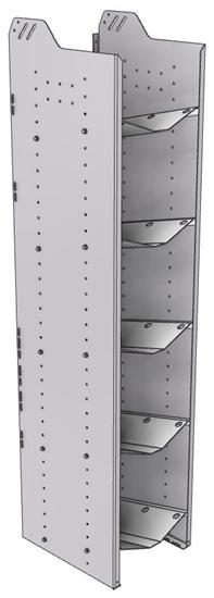 """32-L872-5 Square Back Refrigerant Shelf Unit 15.45""""Wide x 18.5""""Deep x 72""""High for 5 large bottles"""