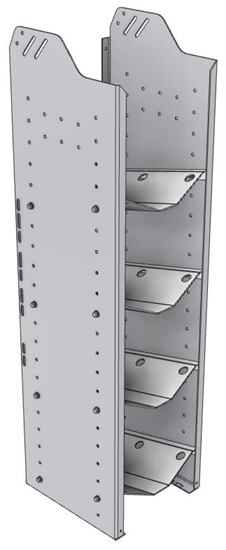 """32-S348-4 Square Back Refrigerant Shelf Unit 12.45""""Wide x 13.5""""Deep x 48""""High for 4 small bottles"""