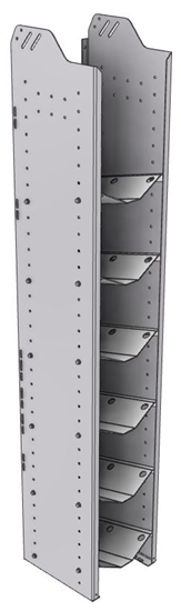 """32-S372-6 Square Back Refrigerant Shelf Unit 12.45""""Wide x 13.5""""Deep x 72""""High for 6 small bottles"""