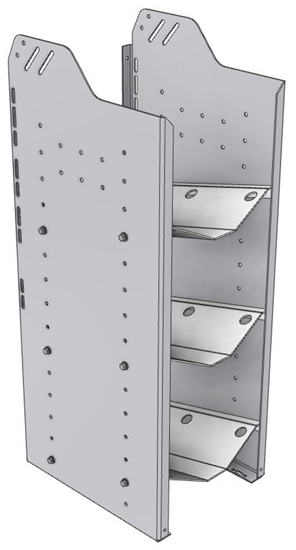 """32-S536-3 Square Back Refrigerant Shelf Unit 12.45""""Wide x 15.5""""Deep x 36""""High for 3 small bottles"""