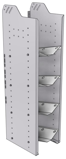 "32-S548-4 Square Back Refrigerant Shelf Unit 12.45""Wide x 15.5""Deep x 48""High for 4 small bottles"