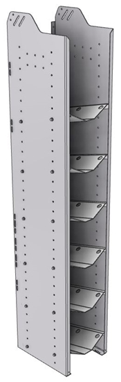 """32-S572-6 Square Back Refrigerant Shelf Unit 12.45""""Wide x 15.5""""Deep x 72""""High for 6 small bottles"""