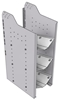 """32-S836-3 Square Back Refrigerant Shelf Unit 12.45""""Wide x 18.5""""Deep x 36""""High for 3 small bottles"""