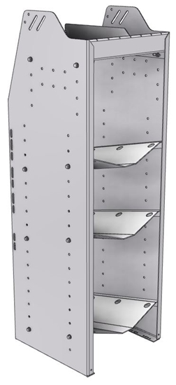 """33-C548-3 Profiled Back Refrigerant Combo Shelf Unit 15.45""""Wide x 15.5""""Deep x 48""""High for 1 large and 2 small bottles"""