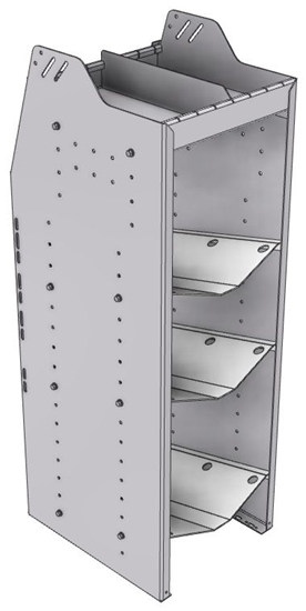 "33-C848-3 Profiled Back Refrigerant Combo Shelf Unit 15.45""Wide x 18.5""Deep x 48""High for 1 large and 2 small bottles"