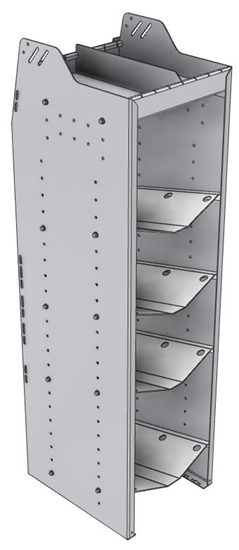 """33-C858-4 Profiled Back Refrigerant Combo Shelf Unit 15.45""""Wide x 18.5""""Deep x 58""""High for 1 large and 3 small bottles"""