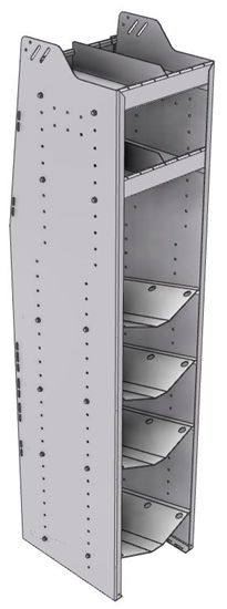 "33-C872-4 Profiled Back Refrigerant Combo Shelf Unit 15.45""Wide x 18.5""Deep x 72""High for 1 large and 3 small bottles"