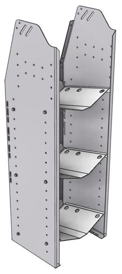 """33-L348-3 Profiled Back Refrigerant Shelf Unit 15.45""""Wide x 13.5""""Deep x 48""""High for 2 large bottles"""