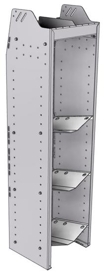 """33-L358-3 Profiled Back Refrigerant Shelf Unit 15.45""""Wide x 13.5""""Deep x 58""""High for 3 large bottles"""