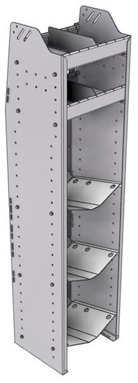 """33-L363-3 Profiled Back Refrigerant Shelf Unit 15.45""""Wide x 13.5""""Deep x 63""""High for 3 large bottles"""