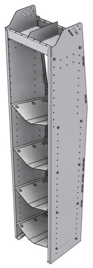 """33-L372-4 Profiled Back Refrigerant Shelf Unit 15.45""""Wide x 13.5""""Deep x 72""""High for 4 large bottles"""