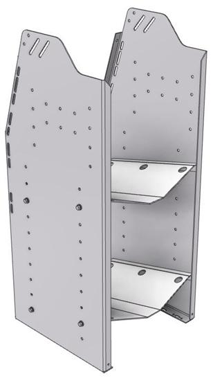"""33-L536-2 Profiled Back Refrigerant Shelf Unit 15.45""""Wide x 15.5""""Deep x 36""""High for 2 large bottles"""