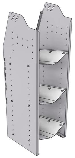 """33-L548-3 Profiled Back Refrigerant Shelf Unit 15.45""""Wide x 15.5""""Deep x 48""""High for 3 large bottles"""