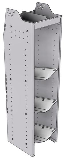 """33-L558-3 Profiled Back Refrigerant Shelf Unit 15.45""""Wide x 15.5""""Deep x 58""""High for 3 large bottles"""