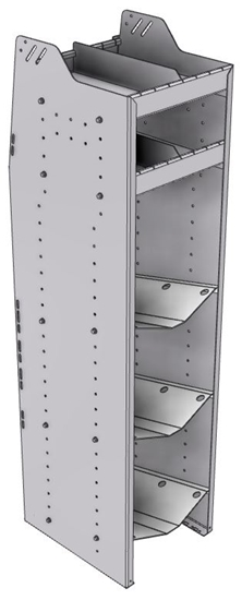 """33-L863-3 Profiled Back Refrigerant Shelf Unit 15.45""""Wide x 18.5""""Deep x 63""""High for 3 large bottles"""