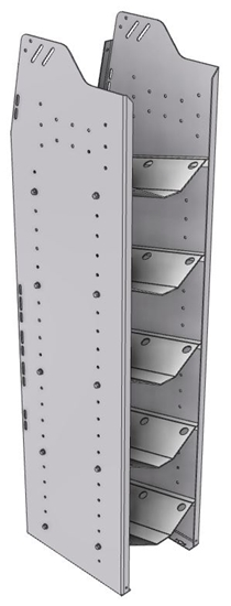 """33-S558-5 Profiled Back Refrigerant Shelf Unit 12.45""""Wide x 13.5""""Deep x 58""""High for 5 small bottles"""