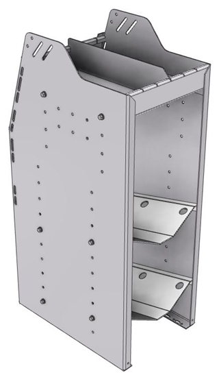 "33-S836-2 Profiled Back Refrigerant Shelf Unit 12.45""Wide x 18.5""Deep x 36""High for 2 small bottles"