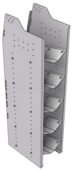 """33-S858-5 Profiled Back Refrigerant Shelf Unit 12.45""""Wide x 18.5""""Deep x 58""""High for 5 small bottles"""